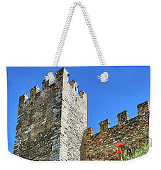 Weekender Tote Bag featuring the photograph Roman Walls And Flowers In Tarragona by Eduardo Jose Accorinti