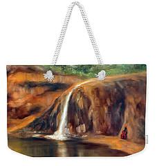 Weekender Tote Bag featuring the painting Violin by Randol Burns