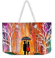 Romance In The Rain Weekender Tote Bag