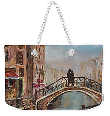 Romance In Venice Weekender Tote Bag