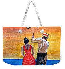 Romance On The Beach Weekender Tote Bag