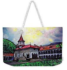 Romanian Monastery Weekender Tote Bag by Sarah Loft