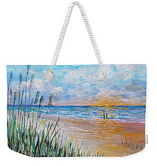Romantic Beach Weekender Tote Bag by Lou Ann Bagnall
