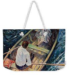Dordogne , Beynac-et-cazenac , France ,romantic Boat Trip Weekender Tote Bag by Pierre Van Dijk