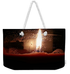 Weekender Tote Bag featuring the photograph Romantic Candle by Robert Knight