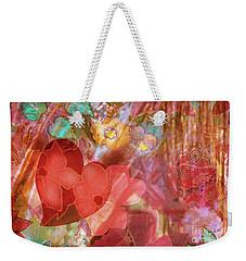 romantic floral fantasy - Veiled Heart Weekender Tote Bag