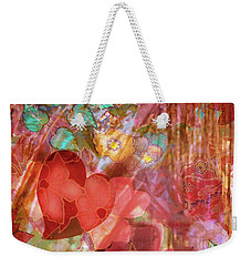 romantic floral fantasy - Veiled Heart Weekender Tote Bag