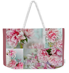 Romantic Peonies Collage Weekender Tote Bag