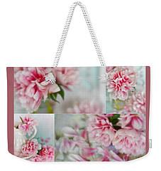Romantic Peonies Collage Weekender Tote Bag