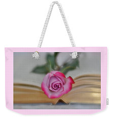 Weekender Tote Bag featuring the photograph Romantic Read 2 by Diane Alexander