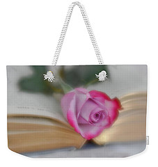 Weekender Tote Bag featuring the photograph Romantic Read by Diane Alexander