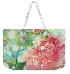 romantic Rose Weekender Tote Bag by Judith Levins