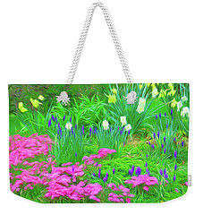 Weekender Tote Bag featuring the photograph Romantic Skies Garden Escape by Aimee L Maher Photography and Art Visit ALMGallerydotcom