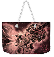 Romantic Stemapunk Violin Music Weekender Tote Bag