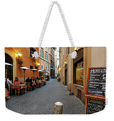 Romantic Streetside Cafe Weekender Tote Bag