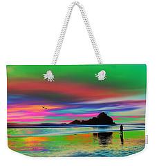 Romantic Tropical Beach Walk Weekender Tote Bag