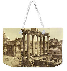 Weekender Tote Bag featuring the painting Romanum by Artistic Panda