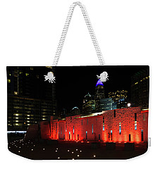 Weekender Tote Bag featuring the photograph Romare Bearden Park by Serge Skiba