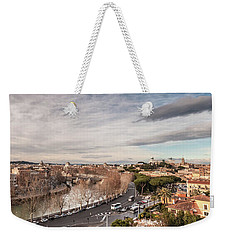 Weekender Tote Bag featuring the photograph Rome - Panorama  by Sergey Simanovsky