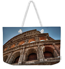 Weekender Tote Bag featuring the photograph Rome - The Colosseum 003 by Lance Vaughn