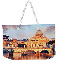 Rome The Eternal City - Saint Peter From The Tiber Weekender Tote Bag