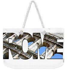 Rome Word Art Weekender Tote Bag