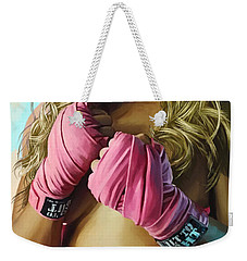 Weekender Tote Bag featuring the painting Ronda Rousey Artwork  by Sheraz A