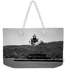 Weekender Tote Bag featuring the photograph Rondout Lighthouse In Spring #1 by Jeff Severson