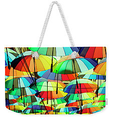 Roof Made From Colorful Umbrellas Weekender Tote Bag