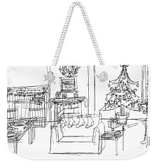 Weekender Tote Bag featuring the drawing Room For Christmas by Artists With Autism Inc