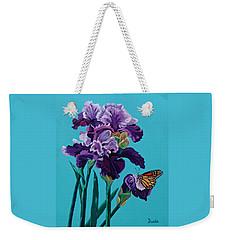 Kim's Iris's With Monarch. Weekender Tote Bag