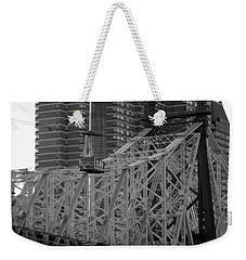 Weekender Tote Bag featuring the photograph Roosevelt Island Tram by John Harding