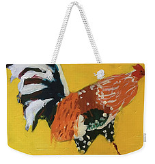 Weekender Tote Bag featuring the painting Rooster 2 by Donald J Ryker III