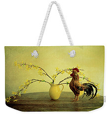 Rooster At Sunrise Weekender Tote Bag