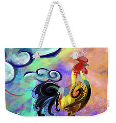 Rooster At The Outpost Weekender Tote Bag