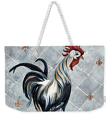 Rooster - Classic Country Weekender Tote Bag by Janine Riley