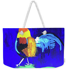 Weekender Tote Bag featuring the painting Rooster by Donald J Ryker III