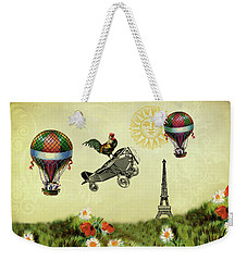 Rooster Flying High Weekender Tote Bag