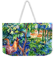 Rooster In A Fig Tree, Tuscany   Weekender Tote Bag