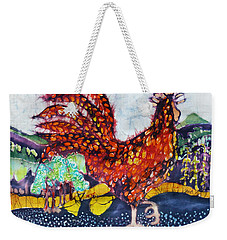 Rooster In The Morning Weekender Tote Bag