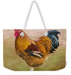 Rooster Weekender Tote Bag by Linsey Williams