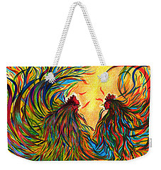 Roosters Frienship Weekender Tote Bag by Fanny Diaz