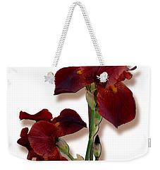 Root Beer Irises Weekender Tote Bag