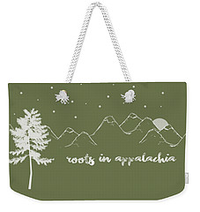 Weekender Tote Bag featuring the digital art Roots In Appalachia by Heather Applegate