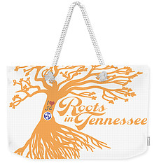 Weekender Tote Bag featuring the photograph Roots In Tn Orange by Heather Applegate