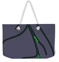 Weekender Tote Bag featuring the digital art Roots by Yshua The Painter