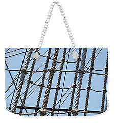 Weekender Tote Bag featuring the photograph Rope Ladder by Dale Kincaid