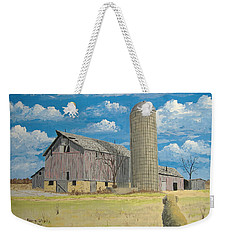 Weekender Tote Bag featuring the painting Rorabeck Barn by Norm Starks