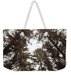 Weekender Tote Bag featuring the photograph Rorschach Trees by Karen Stahlros
