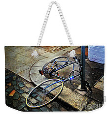 Weekender Tote Bag featuring the photograph Rory's Fishing Tackle Bicycle by Craig J Satterlee